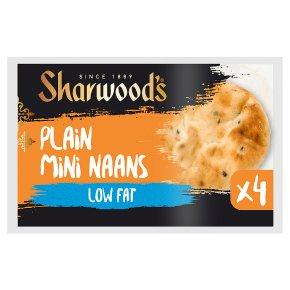 Sharwood's Plain Mini Naans Low Fat