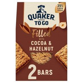 Quaker Porridge To Go Squares Filled with Cocoa Hazelnut