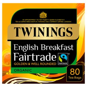 Twinings Fairtrade English Breakfast 80 Organic Tea Bags