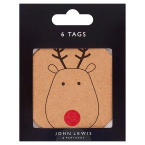 John Lewis Kraft Reindeer Gift Tags