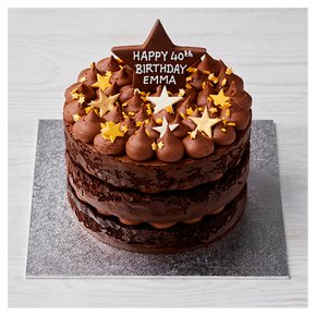 Chocolate Triple Layer Star Cake