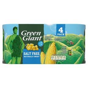 Green Giant no added salt sweetcorn