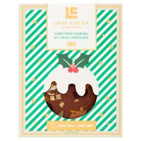 Love Cocoa Christmas Pudding 41% Milk Chocolate