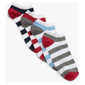 John Lewis Mens Rugby Stripe Socks 4pk