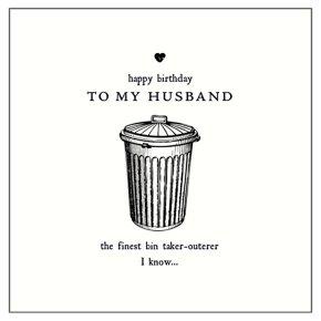 Husband Joke Birthday Card