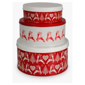 John Lewis Christmas Cake Tins Set Of 3