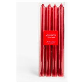 John Lewis Red Metallic Taper