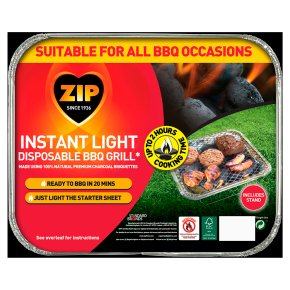 Zip Instant Light Disposable BBQ Grill