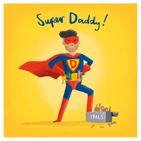 Super Daddy Fathers Day Card