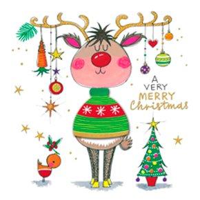 Winter Woolies Merry Christmas/Rein