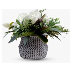 John Lewis Magnolia-Pinecone Cement Pot