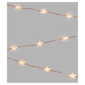 John Lewis 20 Star Lights Copper/White