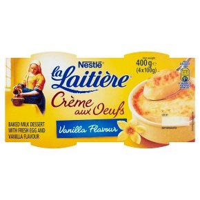 La Laitière Crème aux Oeufs Saveur Vanille