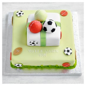 Two Tier Multi Sports Cake