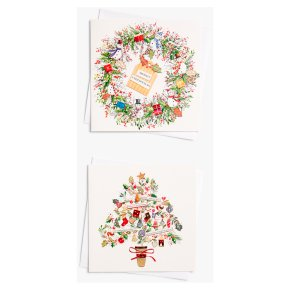 John Lewis Christmas Tree & Wreath Card