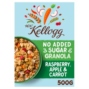 W.K Kellogg Raspberry, Apple & Carrot Granola