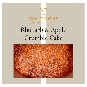 No.1 Apple & Rhubarb Crumble Cake