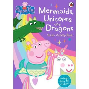 Peppa Pig Mermaids Unicorns Dragon Sticker Book