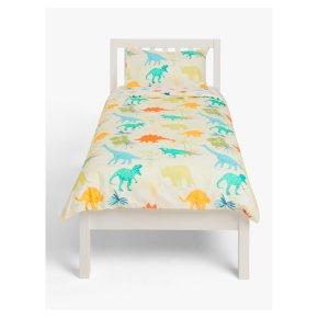 John Lewis Dennis Dinosaur Duvet Cover And Pillowcase Set