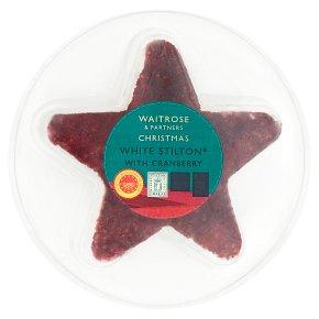 Waitrose Christmas White Stilton® with Cranberry