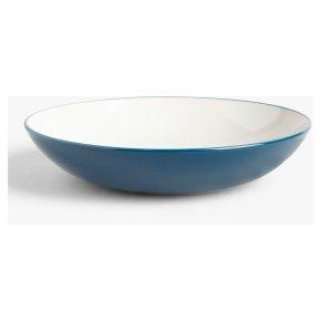 John Lewis Anyday Stoneware Pasta Bowl Navy