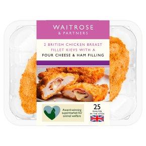 Waitrose 2 British Four Cheese & Ham Chicken Breast Kievs