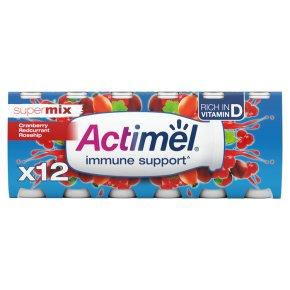 Actimel Supermix Cranberry Redcurrant Rosehip Yogurt Drink