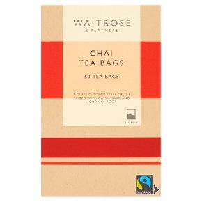 Waitrose Chai Tea 50 Tea Bags