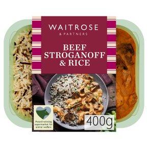 Waitrose Classic Beef Stroganoff with Rice