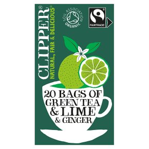 Clipper Organic Green Tea & Lime & Ginger 20 Tea Bags