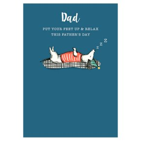 Relax Fathers Day Card