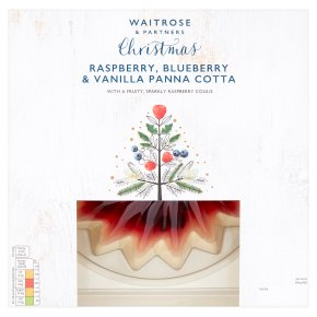 Waitrose Christmas Raspberry, Blueberry Vanilla Panna Cotta