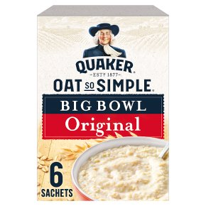 Quaker Oat So Simple Big Bowl Original 6s