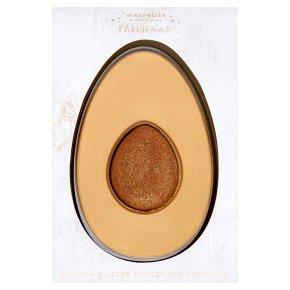 Waitrose Christmas Golden Glitter Chocolate Avocado