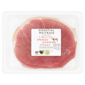 Essential 2 British Smoked Gammon Steaks