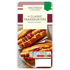 Waitrose 4 Classic Frankfurters