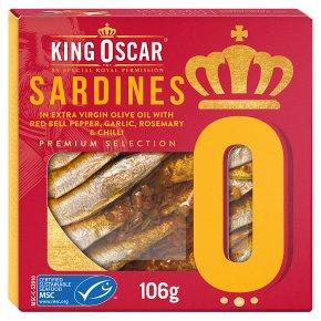 King Oscar MSC Sardines with Pepper Garlic & Chilli