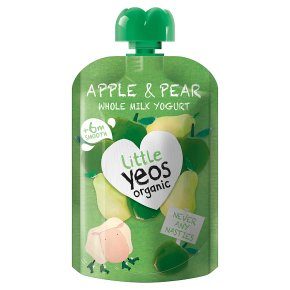 Yeo Valley Organic Little Yeos +6m Apple & Pear Yogurt