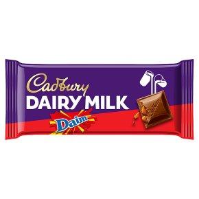 Cadbury Dairy Milk with Daim chocolate bar