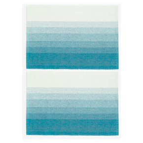 Ombre Fabric Placemats Run Teal
