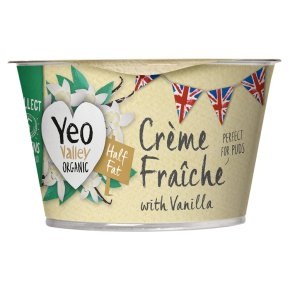 Yeo Valley Organic Half Fat Crème Fraîche with Vanilla