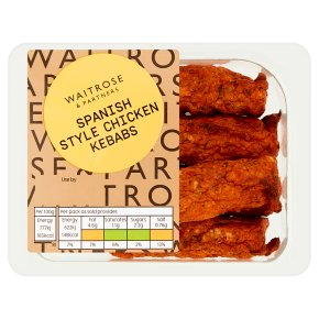 Waitrose Spanish Style Chicken Kebabs