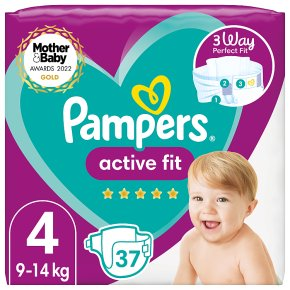 Pampers 4 Active Fit Nappies