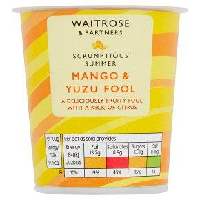 Waitrose Mango & Yuzu Fool