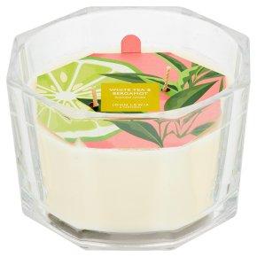 John Lewis Triple Wick Candle White Tea & B