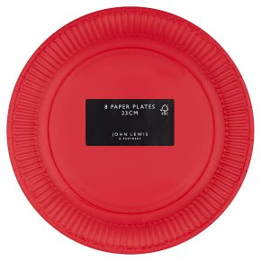 Waitrose Home Red Paper Plates