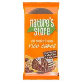 Natures chocolate orange 6 rice cakes