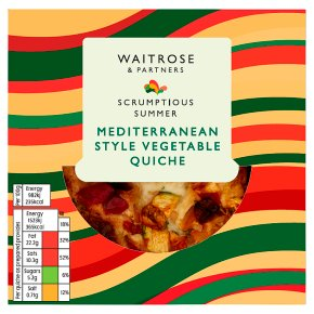 Waitrose Mediterranean Style Vegetable Quiche