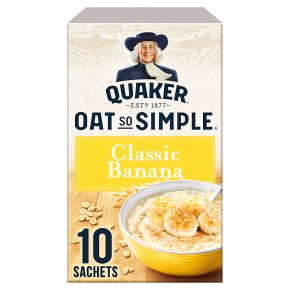 Quaker Oat So Simple Classic Banana 10 Porridge Sachets