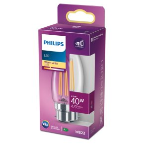 Philips LED White Candle 4w B22